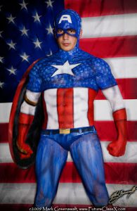 WANNA SEE SOME REASONABLY ATTRACTIVE HALF-NAKED PEOPLE Covered In Superhero Paint Suits?