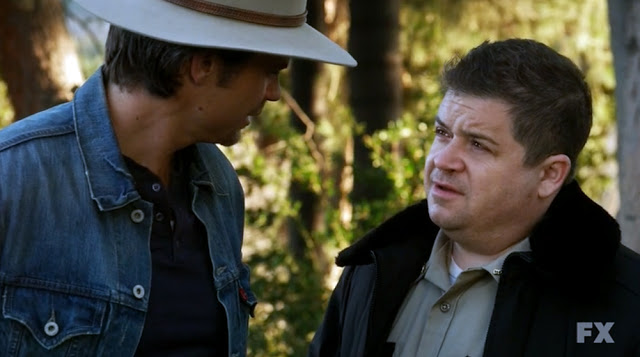 Raylan Givens, Justified, Patton Oswalt, Elmore Leonard