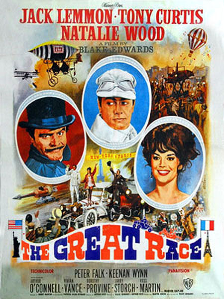 Jack Lemmon, Blake Edwards, Tony Curtis, Natalie Wood, The Great Race, Henry Mancini, Steampunk