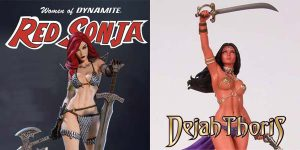 Dynamite Entertainment Immortalizes the WOMEN OF DYNAMITE With Two Statues