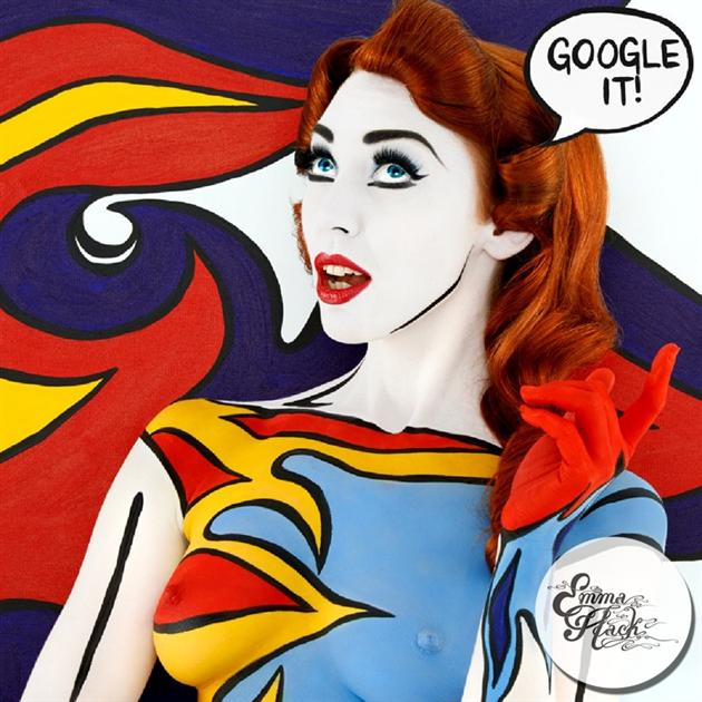 Emma Hack, Pop Art, Roy Lichtenstein, Body Painting
