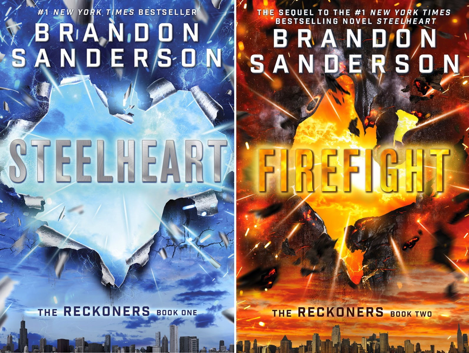 Win Brandon Sanderson's RECKONERS Series STEELHEART and FIREFLIGHT ...