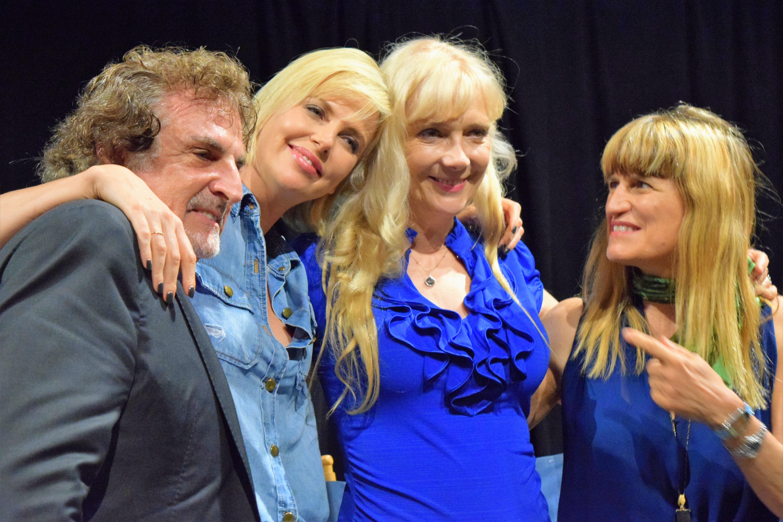 John Herzfeld, Charlize Theron, Glenne Headly, and Catherine Hardwicke.  Photo by Generoso Fierro