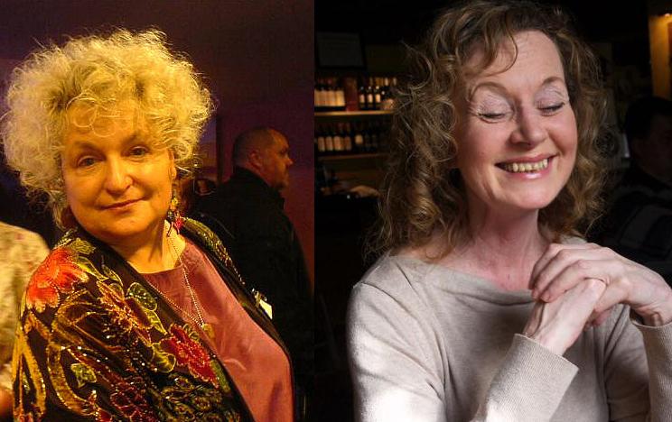 Pat Cadigan (Ieft), Amanda Hemingway (right)